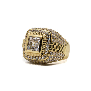 Championship Ring - 18K Gold Plated - ACCESSORIES, Golden Gilt, SNEAKER STUDIO, GOLDEN GILT, DESIGN BY TSS
