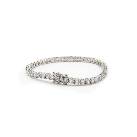Tennis Bracelet - Silver Polished