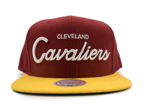 Cavaliers Script Snapback - HEADWEAR, MITCHELL & NESS, SNEAKER STUDIO, GOLDEN GILT, DESIGN BY TSS