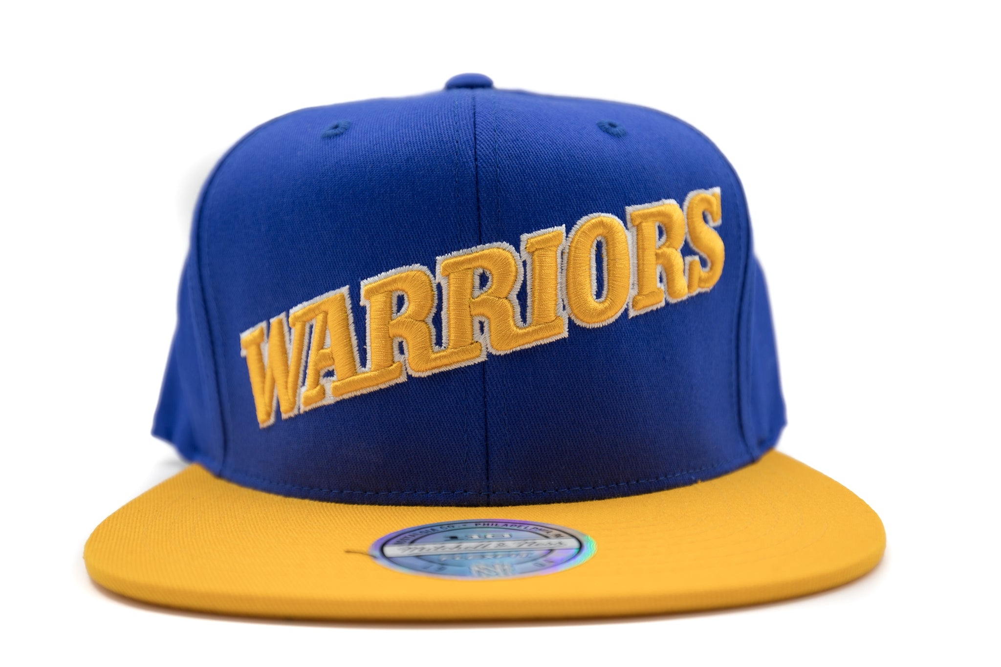 Warriors Flex Wordmark Snapback - HEADWEAR, MITCHELL & NESS, SNEAKER STUDIO, GOLDEN GILT, DESIGN BY TSS