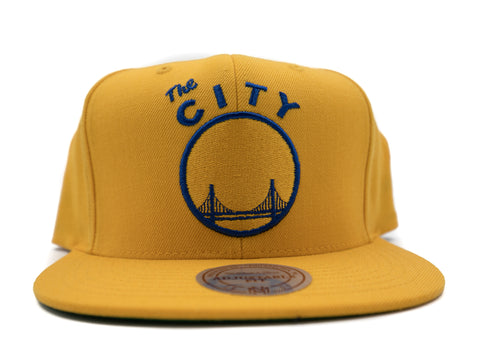 Warriors Wool Snapback - HEADWEAR, MITCHELL & NESS, SNEAKER STUDIO, GOLDEN GILT, DESIGN BY TSS