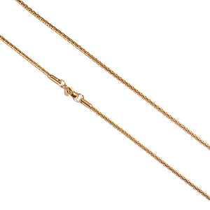 2mm Gold Plated Necklace - ACCESSORIES, Golden Gilt, SNEAKER STUDIO, GOLDEN GILT, DESIGN BY TSS
