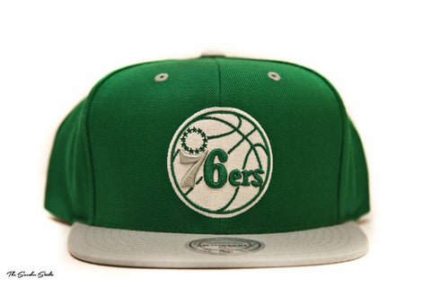 76ERS CITY COLOR SNAPBACK - HEADWEAR, MITCHELL & NESS, SNEAKER STUDIO, GOLDEN GILT, DESIGN BY TSS