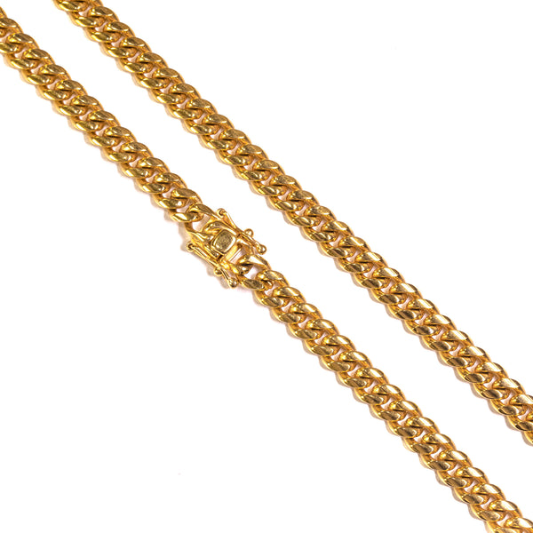 8mm Miami Cuban Link Necklace - ACCESSORIES, Golden Gilt, SNEAKER STUDIO, GOLDEN GILT, DESIGN BY TSS
