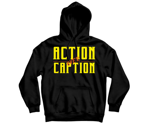 Action over Caption Hoodie - TOPS, TSS CUSTOM GRPHX, SNEAKER STUDIO, GOLDEN GILT, DESIGN BY TSS