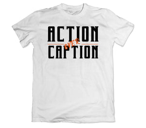Action over Caption T-Shirt - TOPS, TSS CUSTOM GRPHX, SNEAKER STUDIO, GOLDEN GILT, DESIGN BY TSS