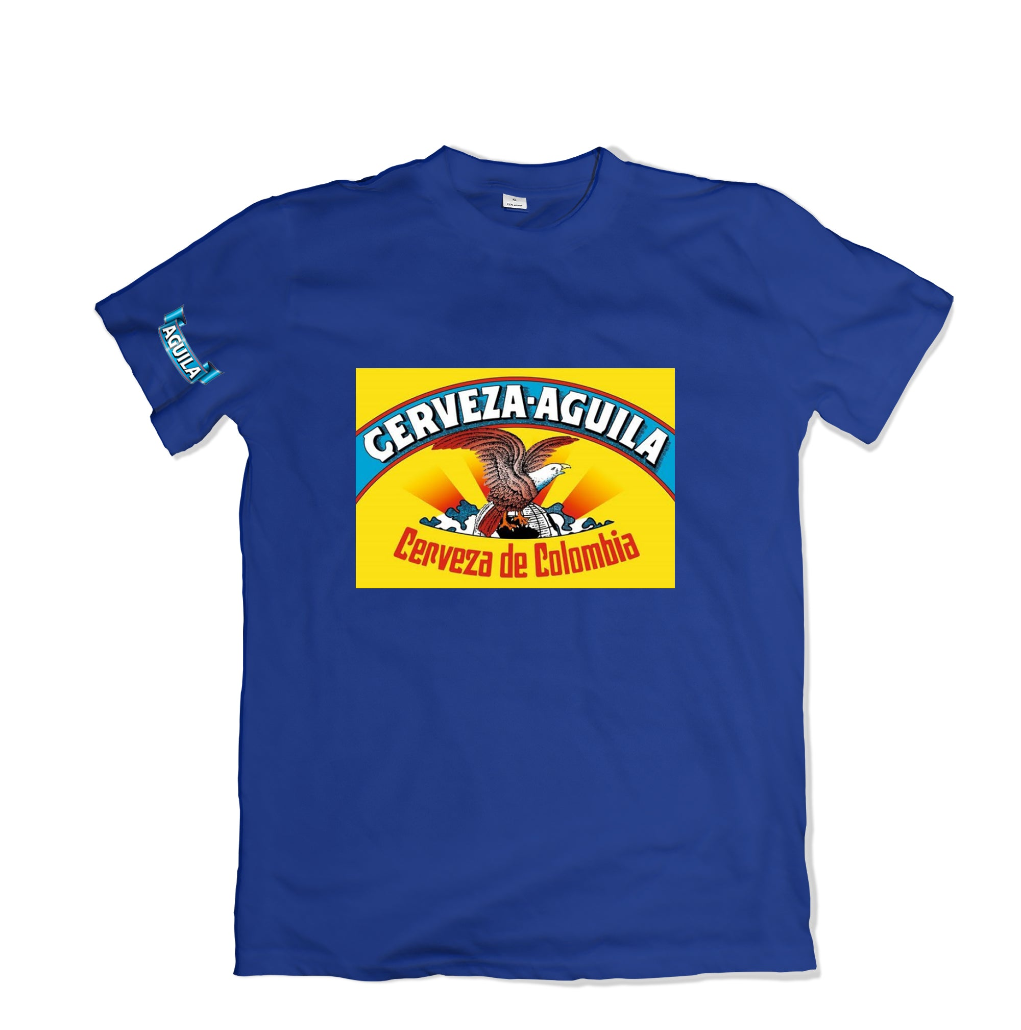 Aguila Cerveza T-SHIRT - TOPS, TSS CUSTOM GRPHX, SNEAKER STUDIO, GOLDEN GILT, DESIGN BY TSS