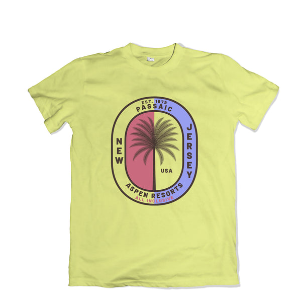 Passaic Aspen Resorts T-SHIRT - TOPS, TSS CUSTOM GRPHX, SNEAKER STUDIO, GOLDEN GILT, DESIGN BY TSS