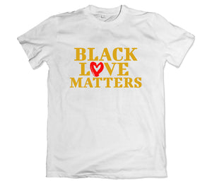 Black Love Matters T-Shirt - TOPS, TSS CUSTOM GRPHX, SNEAKER STUDIO, GOLDEN GILT, DESIGN BY TSS