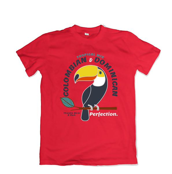 Colombian and Dominican Tee shirt - TOPS, TSS CUSTOM GRPHX, SNEAKER STUDIO, GOLDEN GILT, DESIGN BY TSS