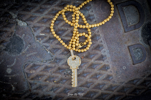 Key Pendant - ACCESSORIES, Golden Gilt, SNEAKER STUDIO, GOLDEN GILT, DESIGN BY TSS