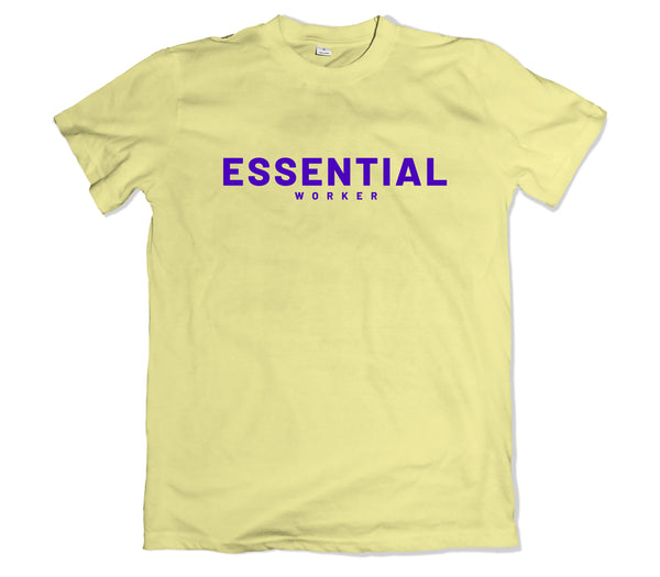 Essential Worker T-Shirt - TOPS, TSS CUSTOM GRPHX, SNEAKER STUDIO, GOLDEN GILT, DESIGN BY TSS