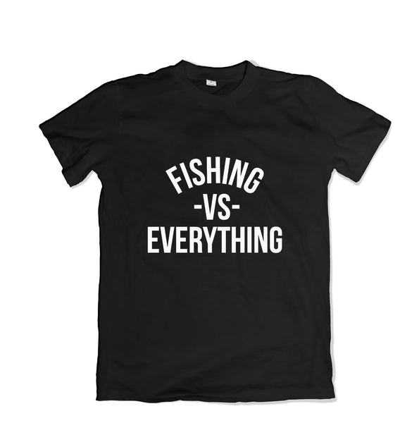 Fishing vs Everything Tee Shirt - TOPS, TSS CUSTOM GRPHX, SNEAKER STUDIO, GOLDEN GILT, DESIGN BY TSS