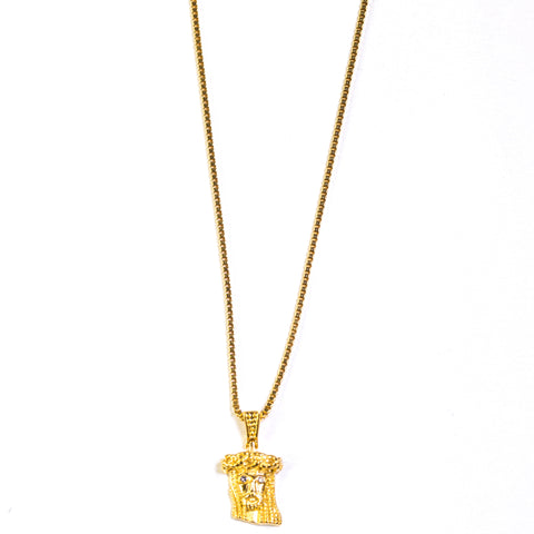 EXTRA MINI JESUS PIECE - GOLD - ACCESSORIES, Golden Gilt, SNEAKER STUDIO, GOLDEN GILT, DESIGN BY TSS