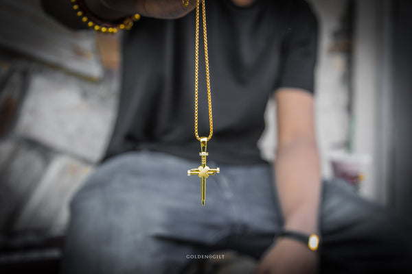 NAIL CROSS PENDANT - ACCESSORIES, Golden Gilt, SNEAKER STUDIO, GOLDEN GILT, DESIGN BY TSS