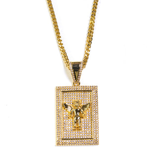 SQUARE ANGEL PENDANT - ACCESSORIES, Golden Gilt, SNEAKER STUDIO, GOLDEN GILT, DESIGN BY TSS