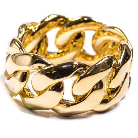 CUBAN LINK RING - ACCESSORIES, Golden Gilt, SNEAKER STUDIO, GOLDEN GILT, DESIGN BY TSS