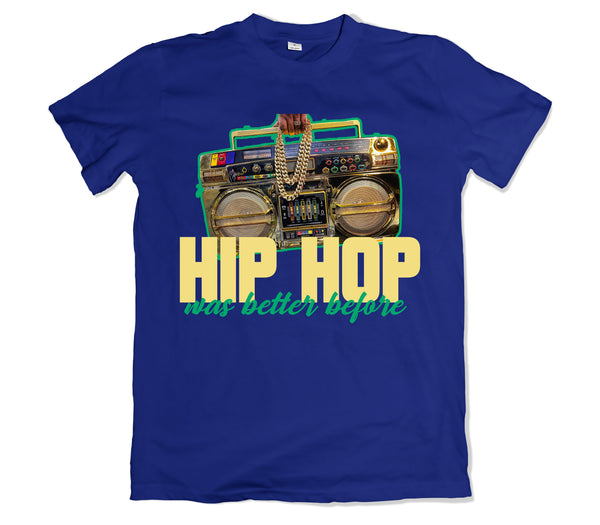 Hip Hop was Better Tee - TOPS, TSS CUSTOM GRPHX, SNEAKER STUDIO, GOLDEN GILT, DESIGN BY TSS