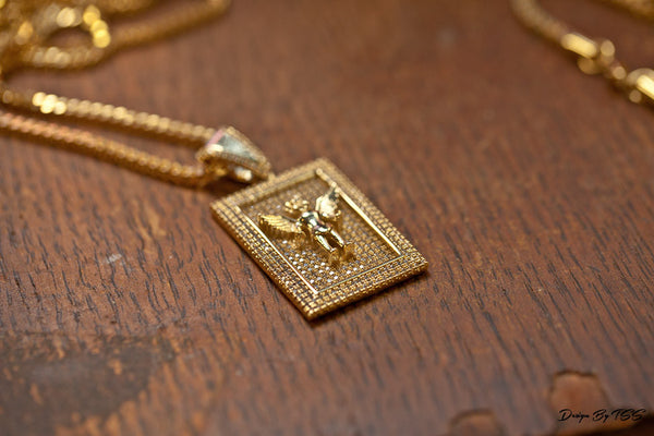 ANGEL SQUARE PENDANT - ACCESSORIES, Golden Gilt, SNEAKER STUDIO, DESIGN BY TSS