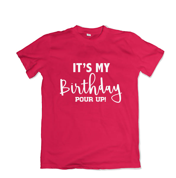 It's My Birthday Tee Shirt - TOPS, TSS CUSTOM GRPHX, SNEAKER STUDIO, GOLDEN GILT, DESIGN BY TSS