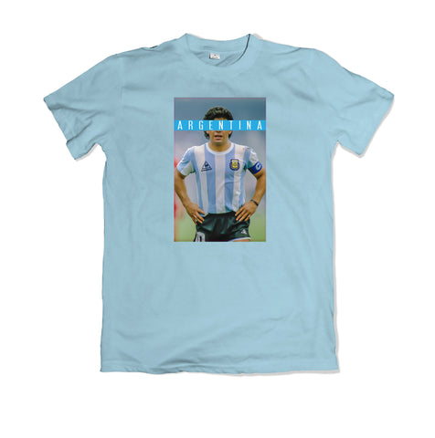 Maradona Argentina T-SHIRT - TOPS, TSS CUSTOM GRPHX, SNEAKER STUDIO, GOLDEN GILT, DESIGN BY TSS