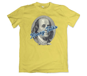 MONEY TALKS TEE - TOPS, TSS CUSTOM GRPHX, SNEAKER STUDIO, GOLDEN GILT, DESIGN BY TSS