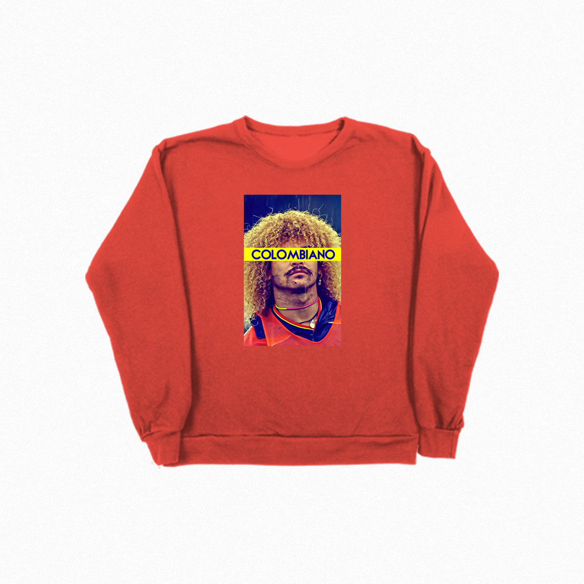 El Pibe Colombiano Crew Neck - Red - TOPS, TSS CUSTOM GRPHX, SNEAKER STUDIO, GOLDEN GILT, DESIGN BY TSS