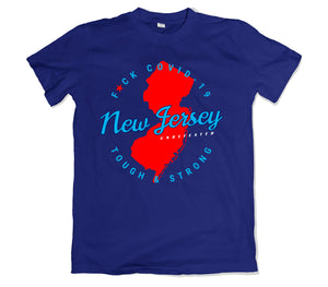 New Jersey Covid-19 T-SHIRT - TOPS, TSS CUSTOM GRPHX, SNEAKER STUDIO, GOLDEN GILT, DESIGN BY TSS