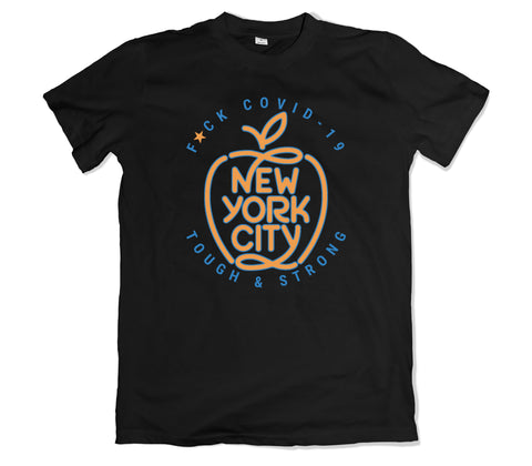New York Covid-19 T-SHIRT - TOPS, TSS CUSTOM GRPHX, SNEAKER STUDIO, GOLDEN GILT, DESIGN BY TSS