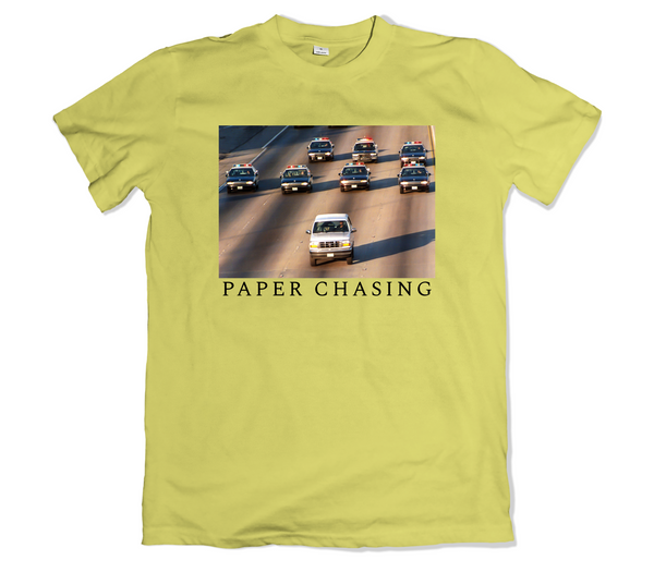 Paper Chasing Tee Shirt - TOPS, TSS CUSTOM GRPHX, SNEAKER STUDIO, GOLDEN GILT, DESIGN BY TSS