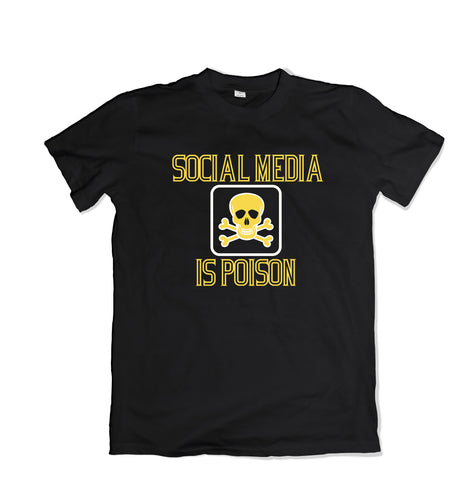 Social Media is Poison Custom T-Shirt - TOPS, TSS CUSTOM GRPHX, SNEAKER STUDIO, GOLDEN GILT, DESIGN BY TSS