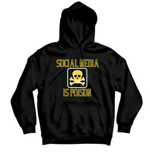 Social Media is Poison Custom Hoodie - TOPS, TSS CUSTOM GRPHX, SNEAKER STUDIO, GOLDEN GILT, DESIGN BY TSS