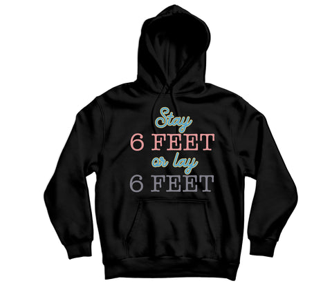 6 Feet Away Hoodie - TOPS, TSS CUSTOM GRPHX, SNEAKER STUDIO, GOLDEN GILT, DESIGN BY TSS