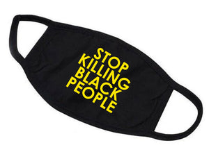 Protective Cotton Face Mask - STOP KILLING BLACK PEOPLE