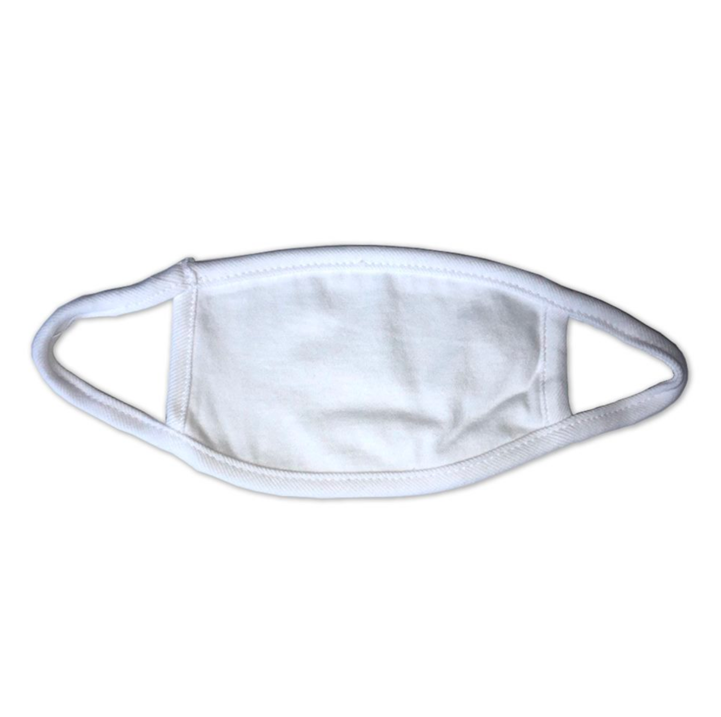 Kids 100% Cotton 2-Ply Face Mask - White
