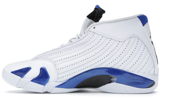 Jordan 14 Retro White Hyper Royal (GS) size 4y