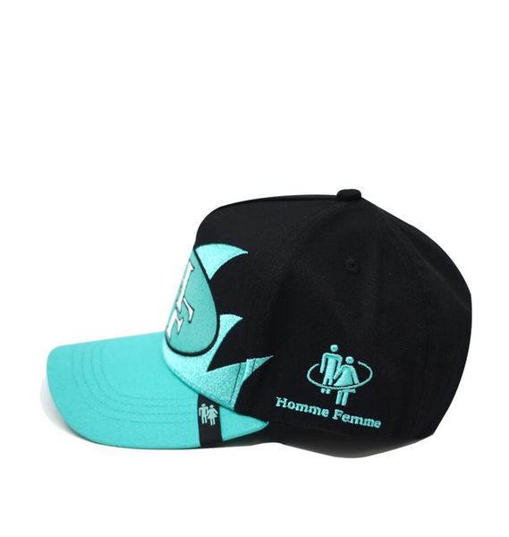 Shark Tooth Snapback Turquoise and Black