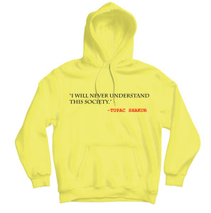 Tupac Society HOODIE - TOPS, TSS CUSTOM GRPHX, SNEAKER STUDIO, GOLDEN GILT, DESIGN BY TSS