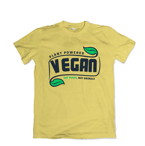 Plant Powered Vegan Tee - TOPS, TSS CUSTOM GRPHX, SNEAKER STUDIO, GOLDEN GILT, DESIGN BY TSS