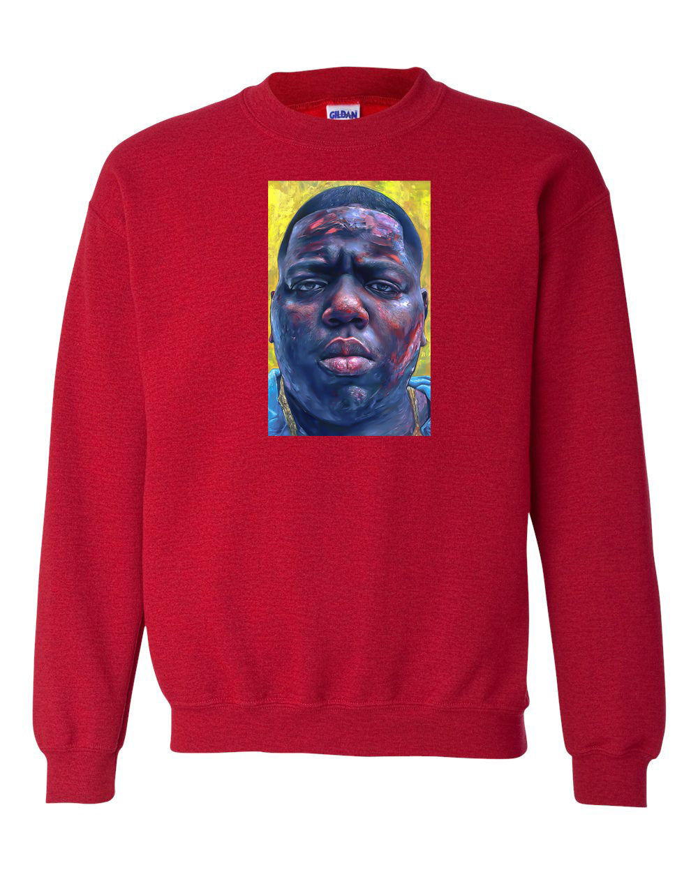 Biggie Crewneck - Red - TOPS, TSS CUSTOM GRPHX, SNEAKER STUDIO, GOLDEN GILT, DESIGN BY TSS