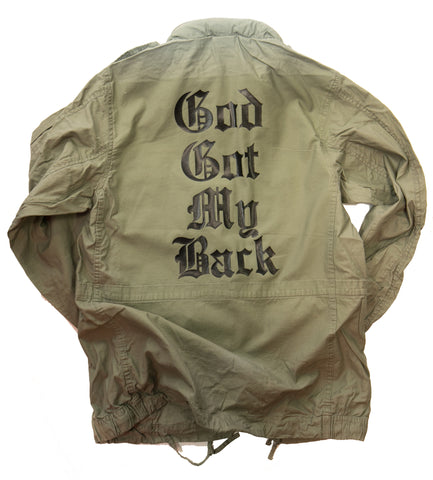 God Got My Back Lightweight Field Jacket - JACKET, TSS CUSTOM GRPHX, SNEAKER STUDIO, GOLDEN GILT, DESIGN BY TSS
