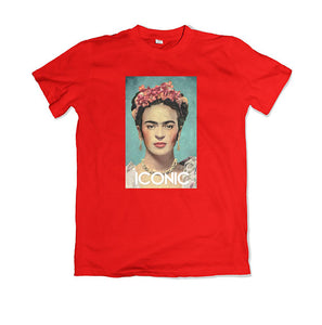 FRIDA ICONIC T-SHIRT - TOPS, TSS CUSTOM GRPHX, SNEAKER STUDIO, GOLDEN GILT, DESIGN BY TSS
