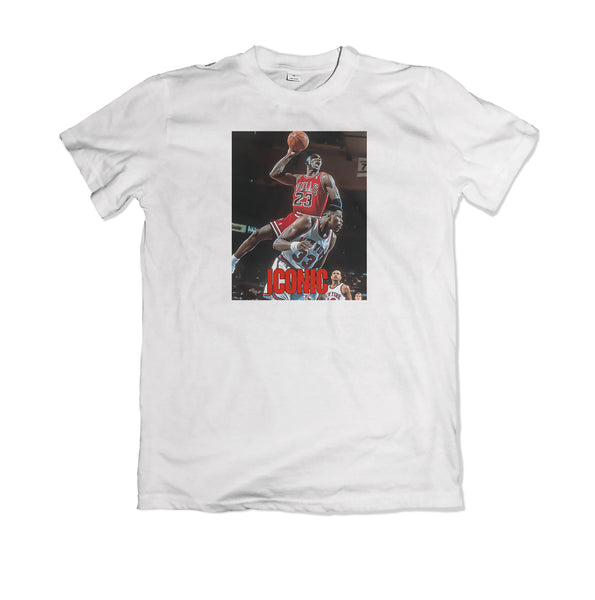 Jordan Dunks on Ewing Tee shirt - TOPS, TSS CUSTOM GRPHX, SNEAKER STUDIO, GOLDEN GILT, DESIGN BY TSS