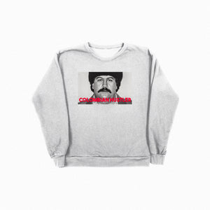 Colombian Hustler Crew Neck - Grey - TOPS, TSS CUSTOM GRPHX, SNEAKER STUDIO, GOLDEN GILT, DESIGN BY TSS