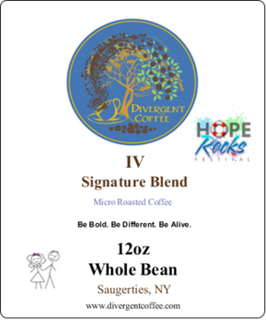 Divergent Signature Blend IV(Four) Dark Roast Whole Bean 12oz