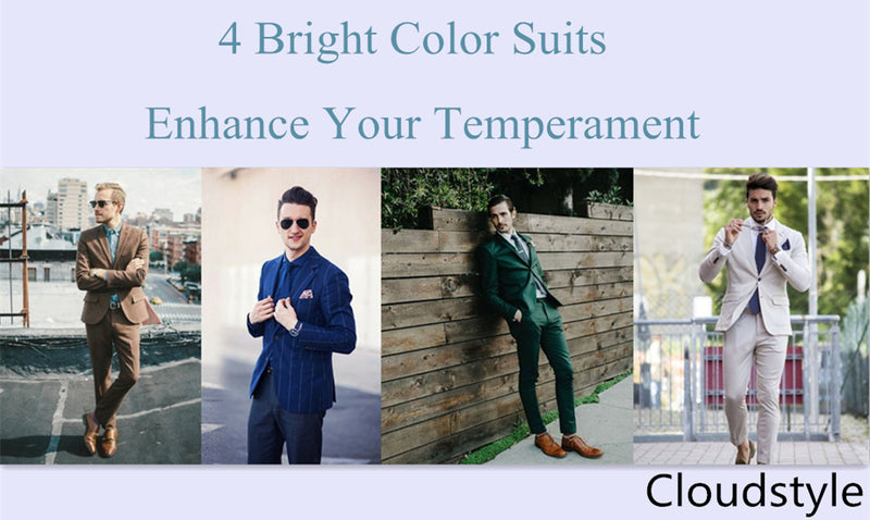 Cloudstyle | 4 Bright Color Suits Enhance Your Temperament