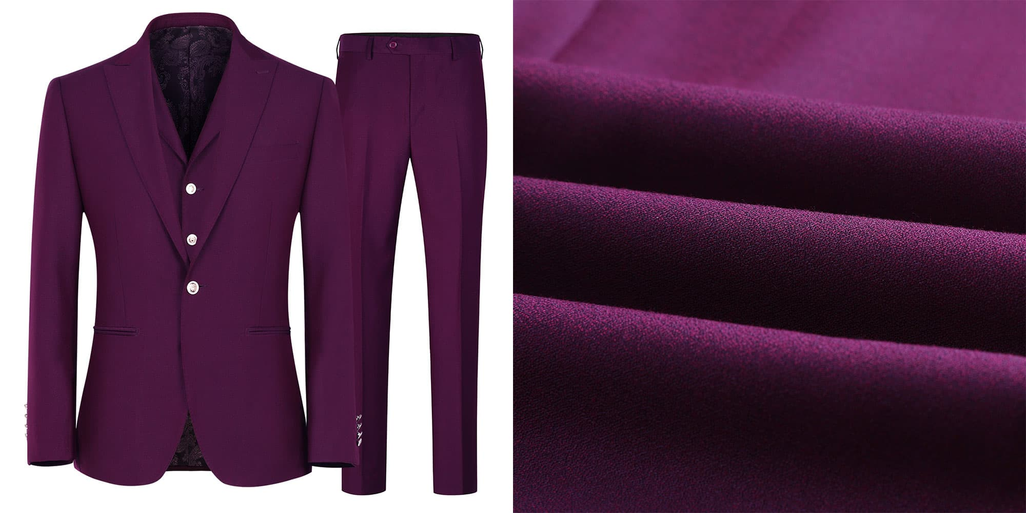Classic Purple Three-Piece Suit
