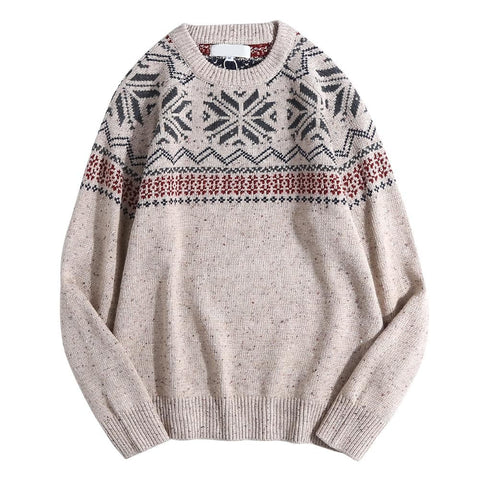 Cloudstyle-Crew Neck Pullover Sweater