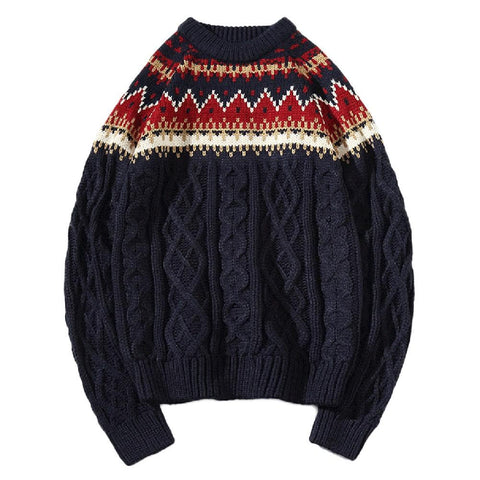 Cloudstyle-Knitted Pullover Sweater