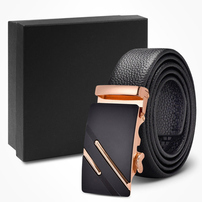 Perfect Fit Leather Belt For Men Lychee Grain Belt